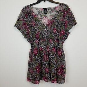 Torrid lace floral blouse top plus size 2.